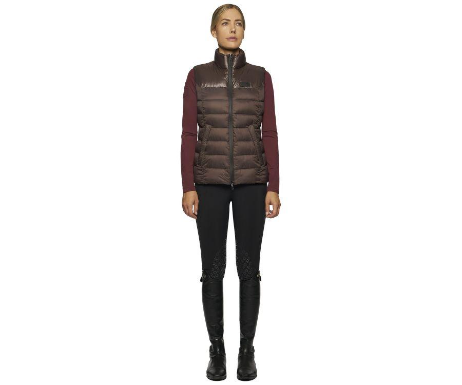 Women padded zip vest