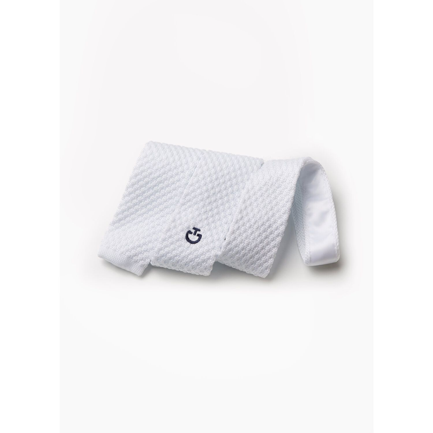 Tricot tie with logo