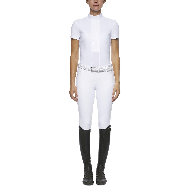 Women's pleated short-sleeved shirt