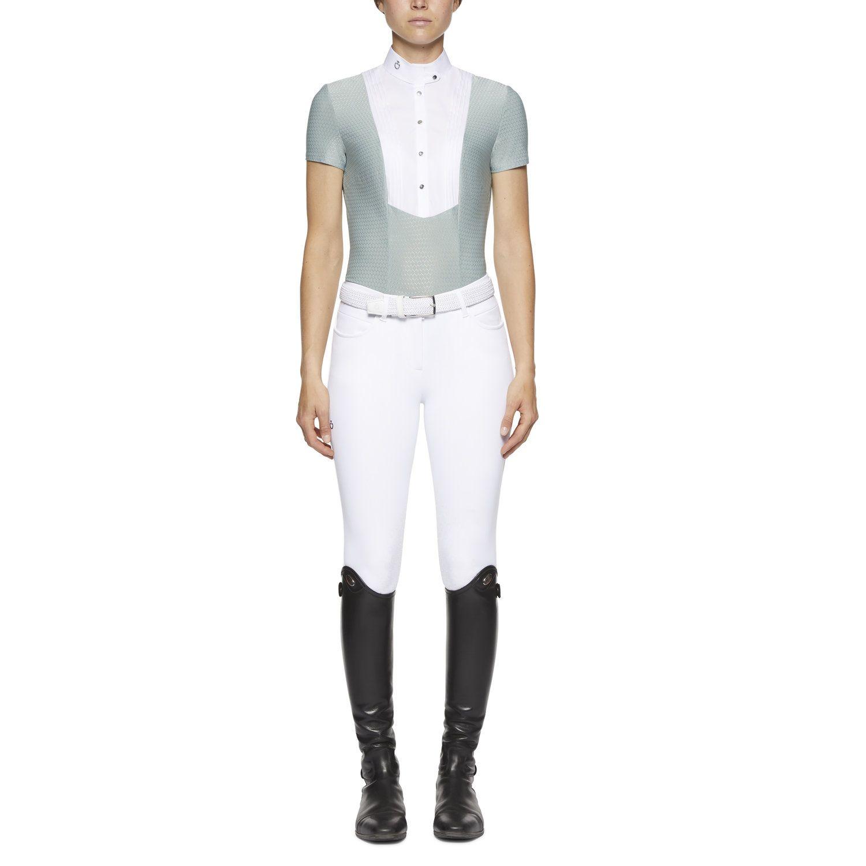 Camicia tecnica da donna a maniche corte