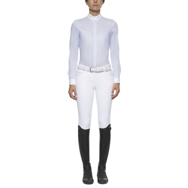 Women's pinstripe long-sleeved shirt