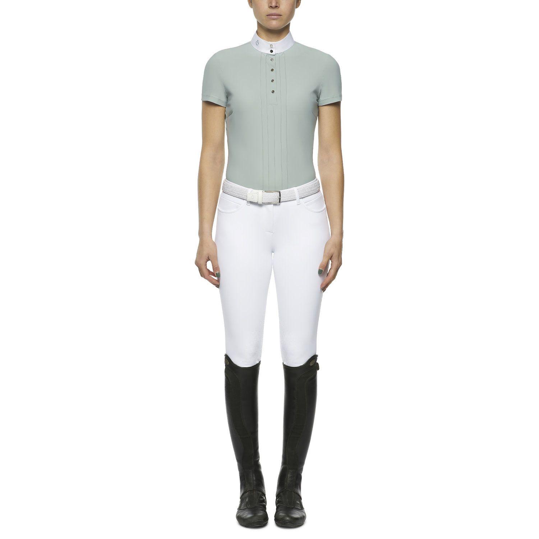 Women's short-sleeved pleated shirt
