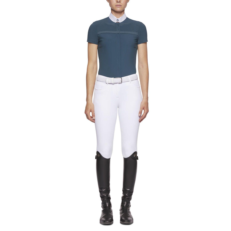 Short-sleeved shirt per perforated insert