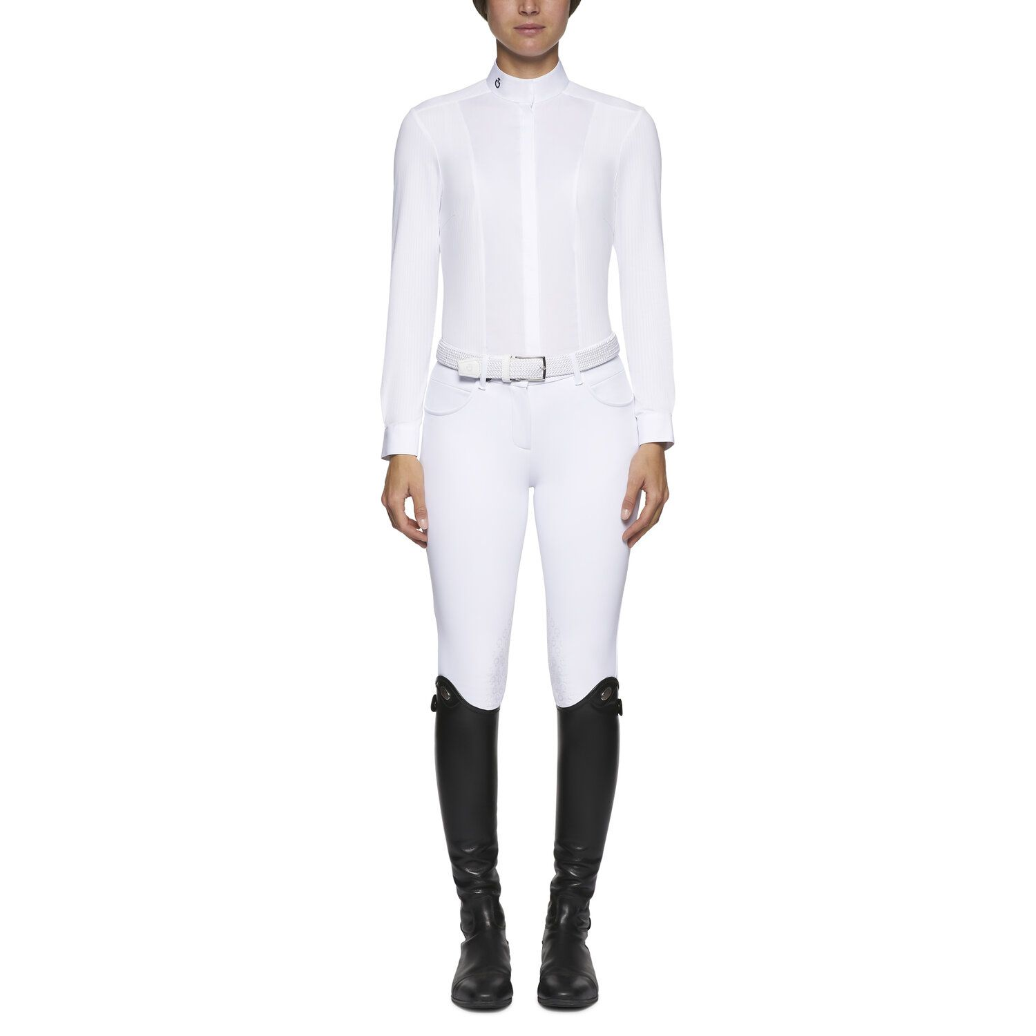 Women's micro perforated long-sleeved shirt