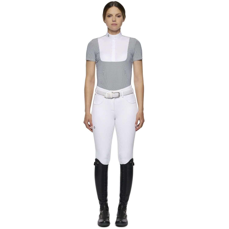 Women's technical short-sleeved shirt with bib