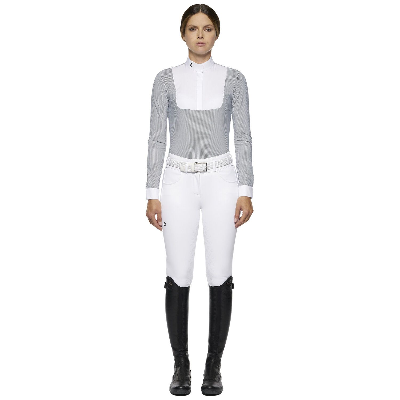 Women's technical long-sleeved shirt with bib