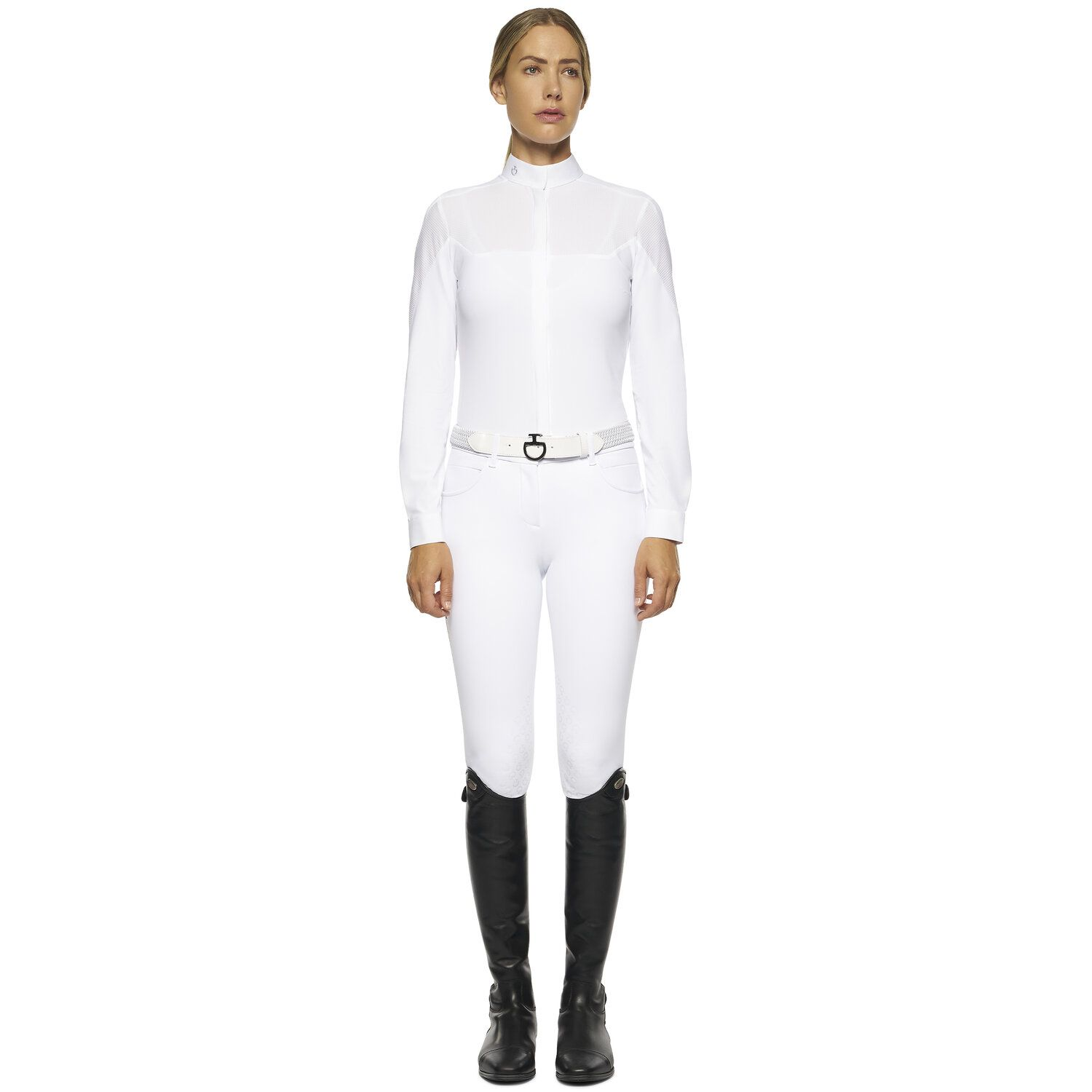 Women's long-sleeved competition shirt with inserts.