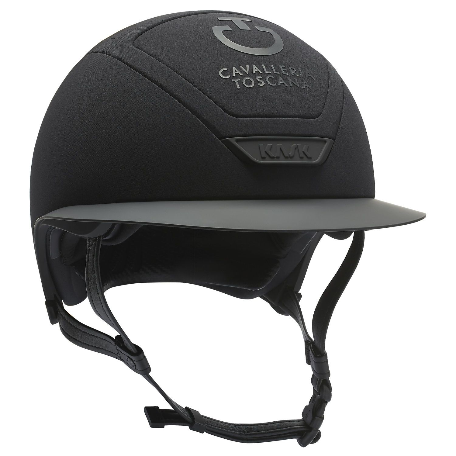 Wide brim riding helmet