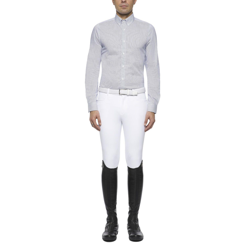 Men's button-down long-sleeved shirt