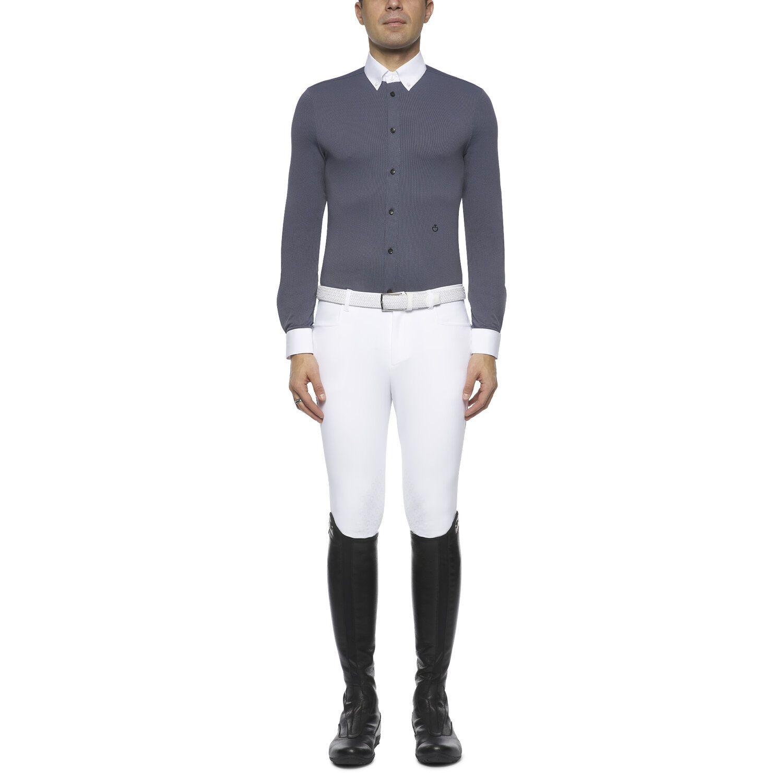 Men's button-down long-sleeved shirt.