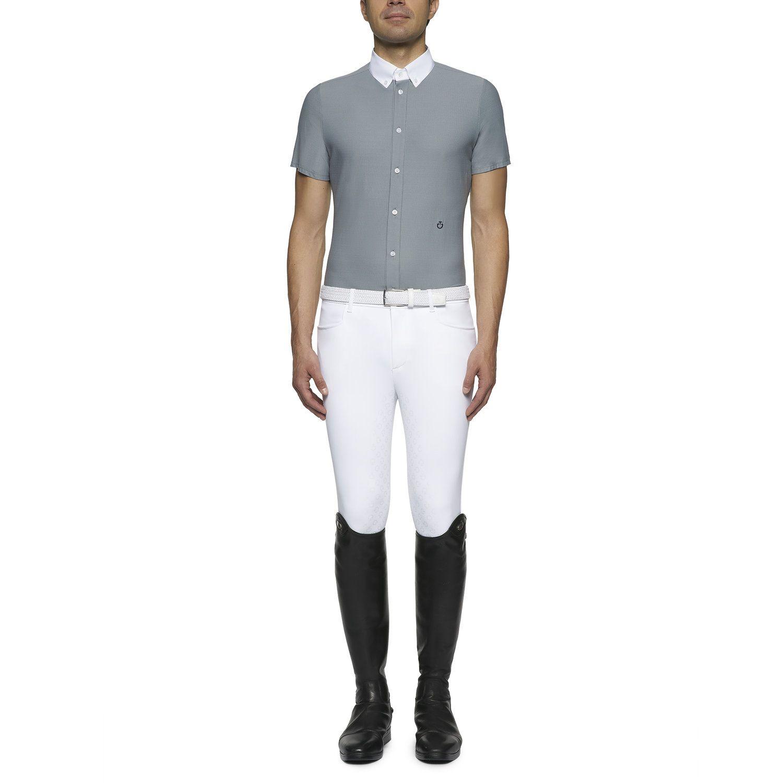 Men's button-down short-sleeved shirt
