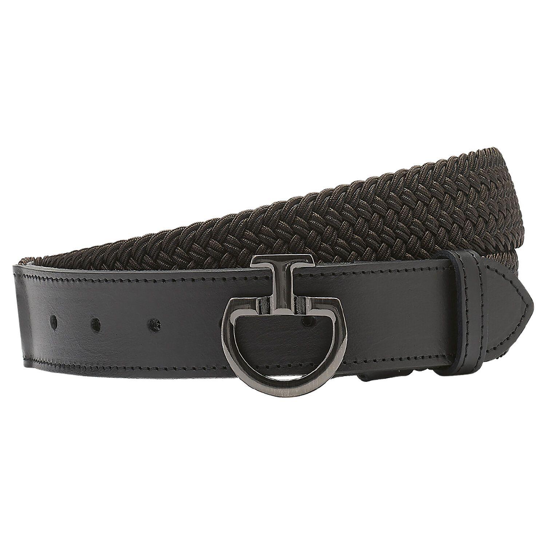 Elastic Belt with Logo Clasp