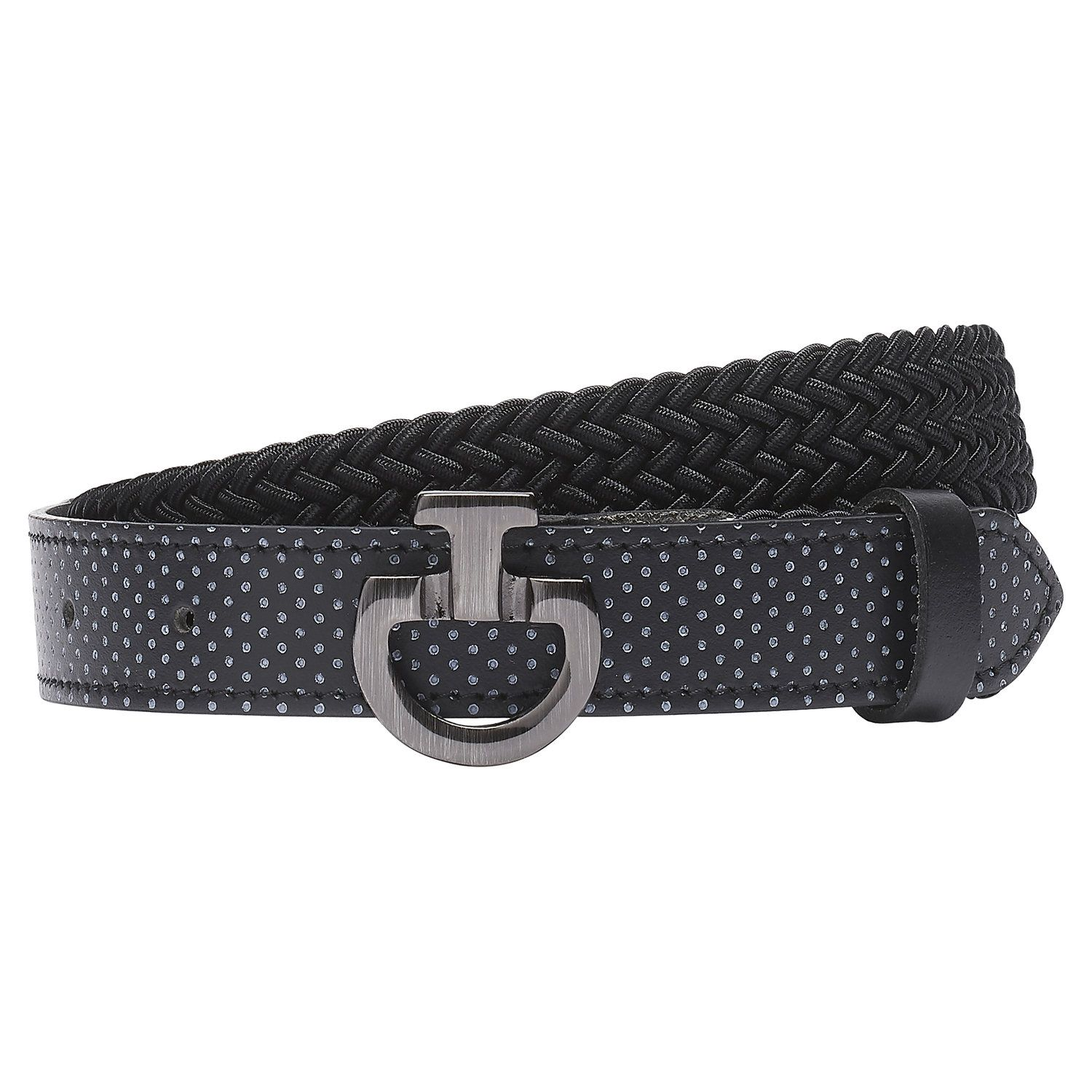 Kid's perforated leather belt