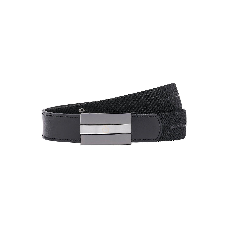Men's elastic band belt with rubberized CT logo