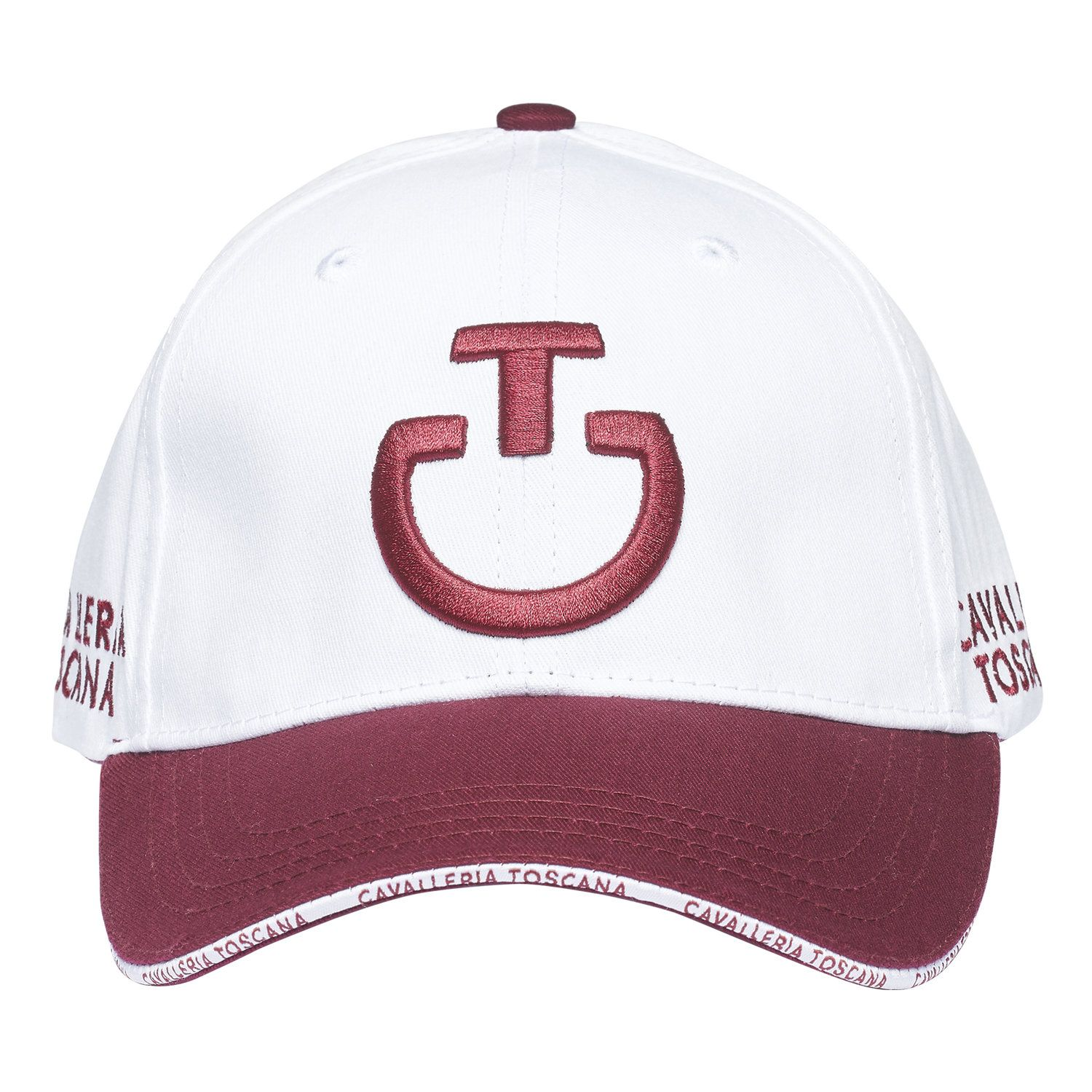 Contrasting logo and brim cap