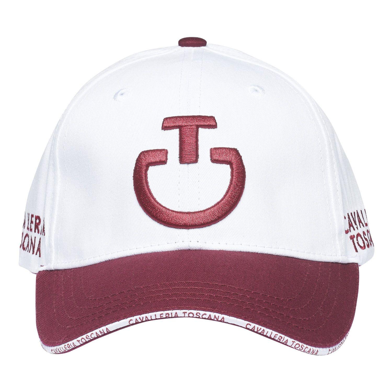Cappellino con logo e visiera a contrasto