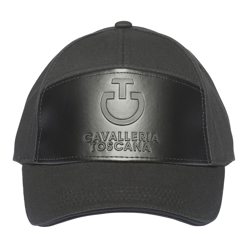 Cappellino con inserto gommato nero
