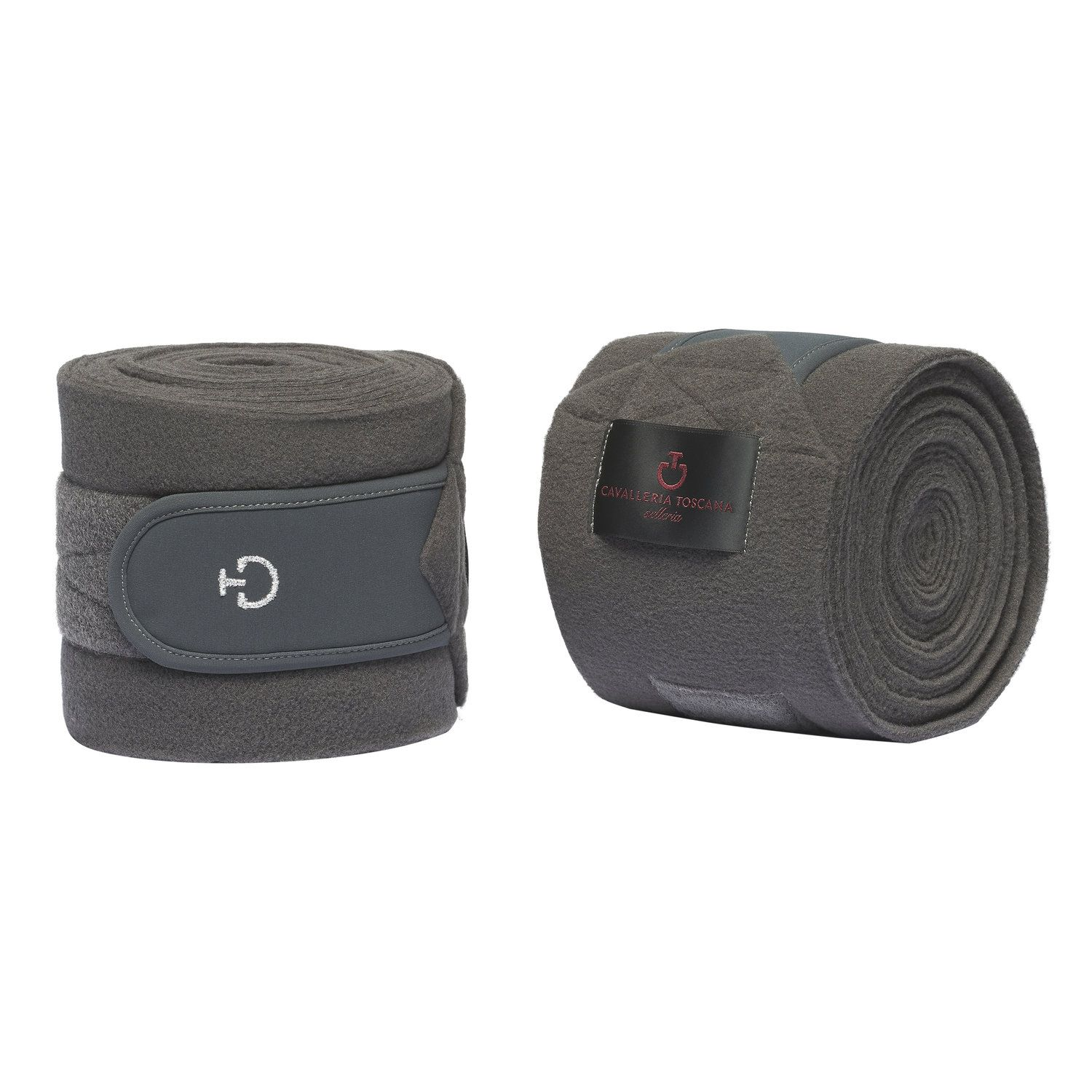 Set of 2 fleece bandages with mesh logo