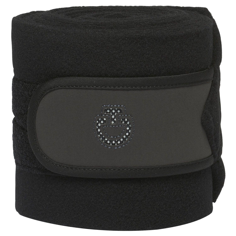 Set of 2 fleece bandages with mesh logo