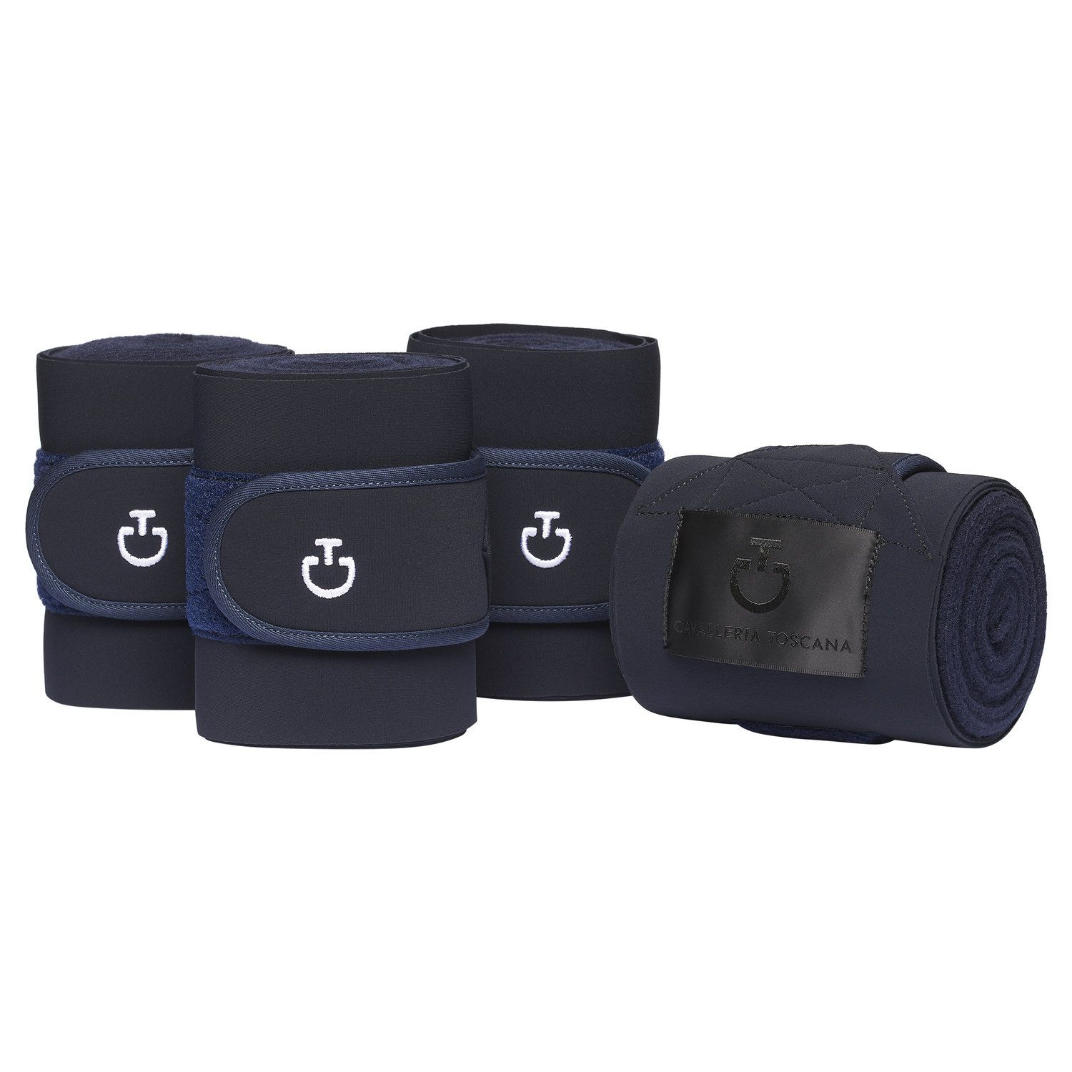 Set of 4 jersey and fleece bandages.