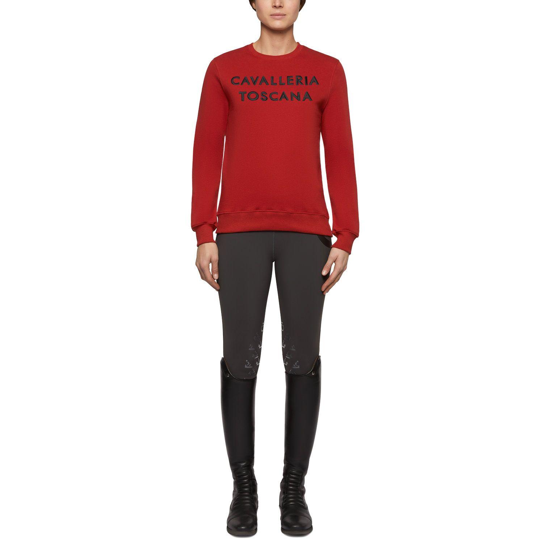 Women's crewneck embossed logo sweatshirt