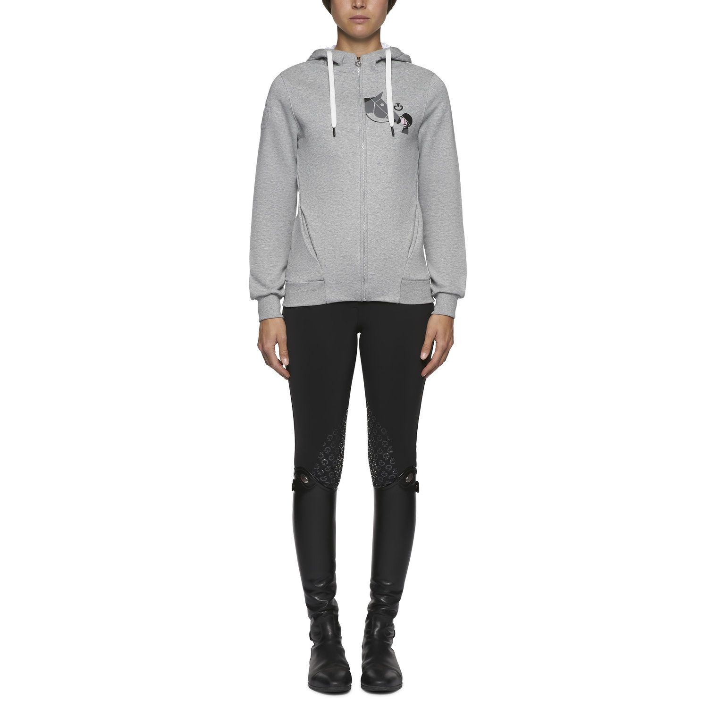Girls Love Horses hooded zip sweatshirt