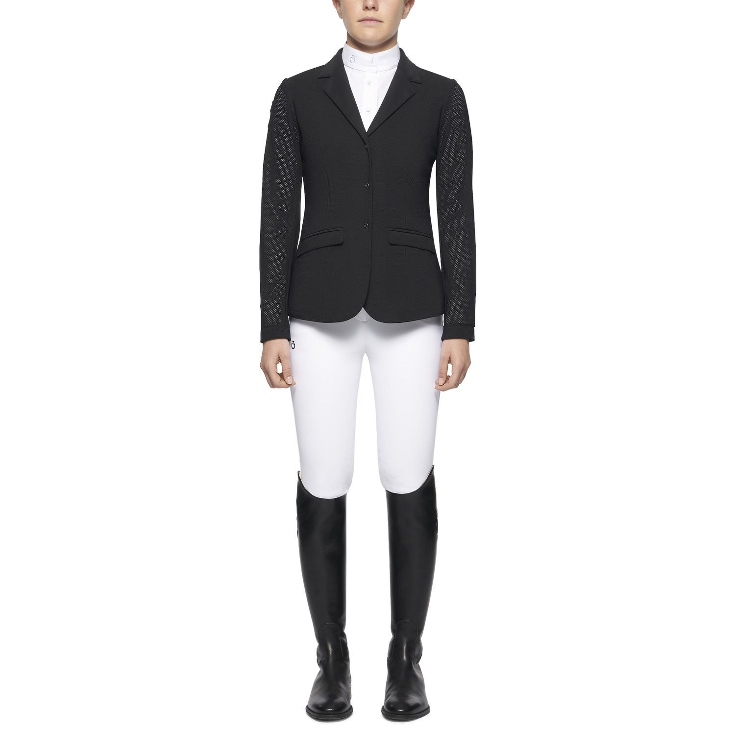 Girl's perforated riding jacket