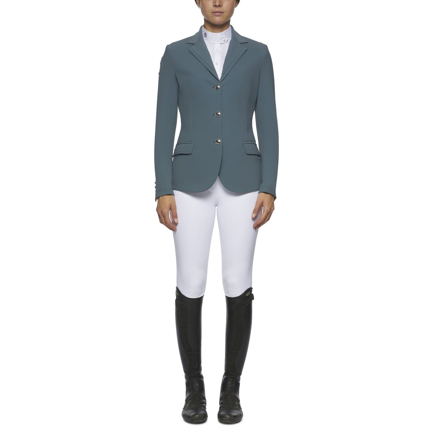 Women`s competition riding jacket with piping