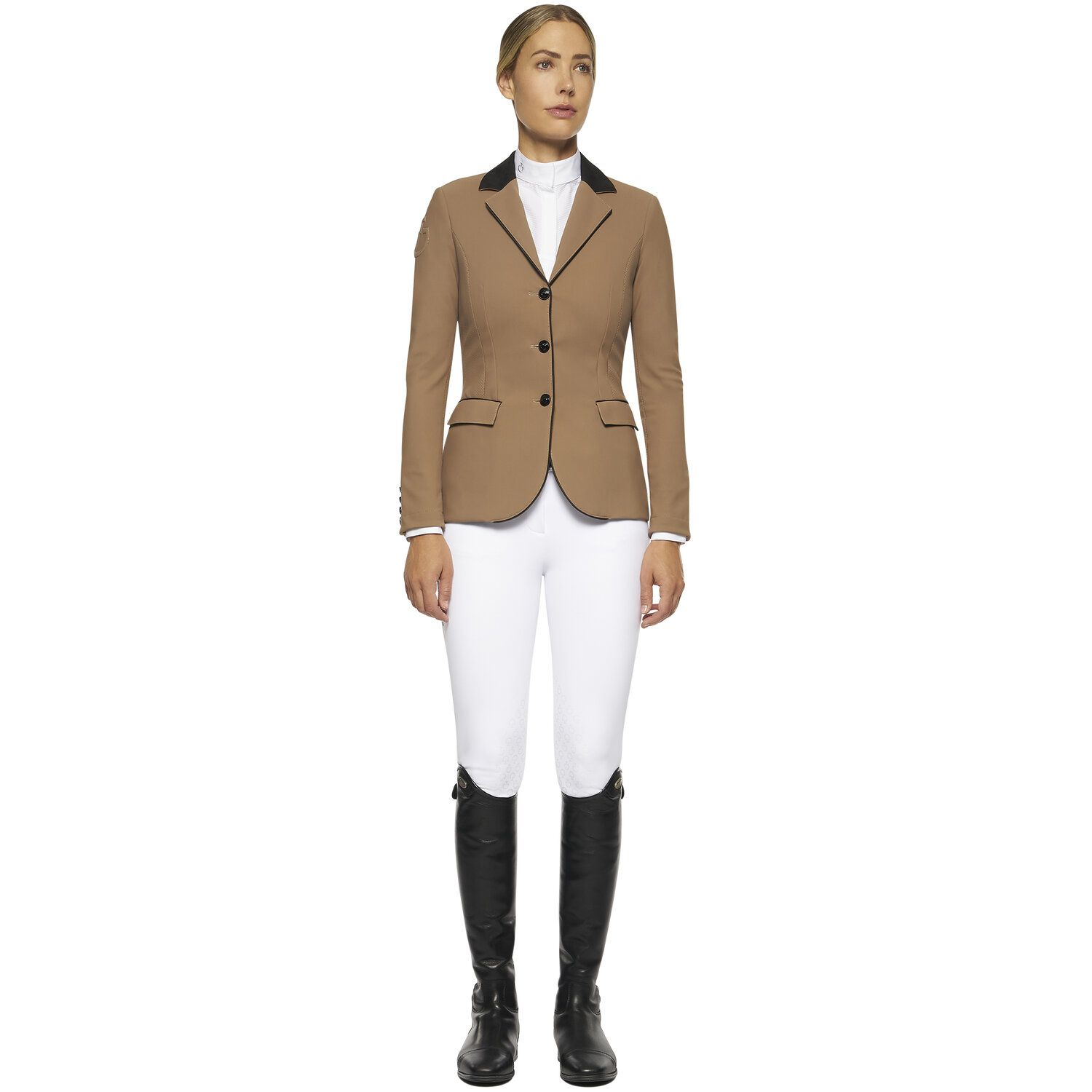 Women's perforated riding jacket
