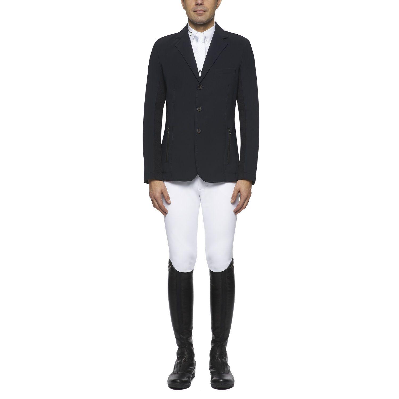 Men's jersey and knit jacquard riding jacket