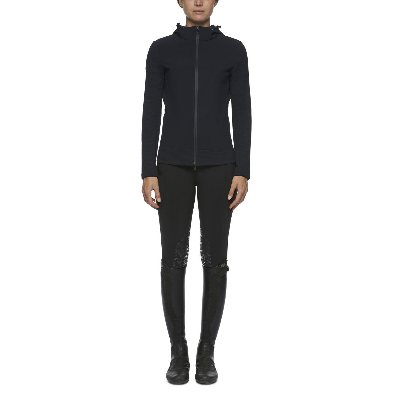 Women's hooded embossed jersey jacket