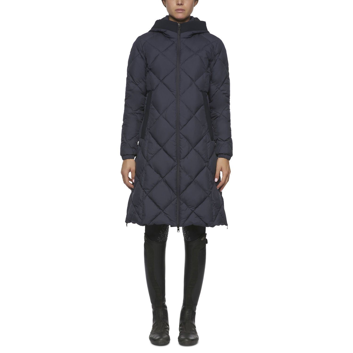 Women's quilted parka jacket