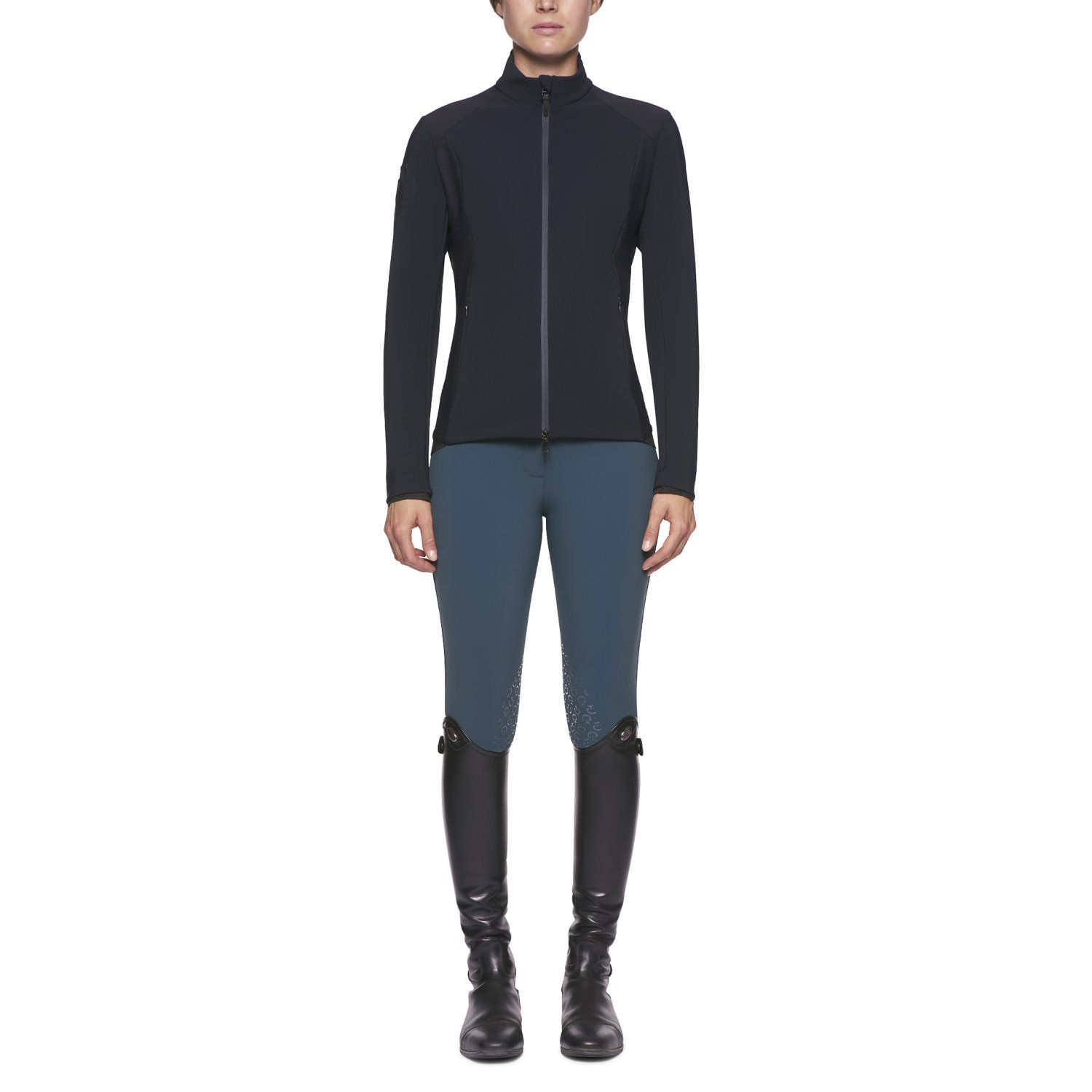 Women's lightweight jersey and piqué jacket