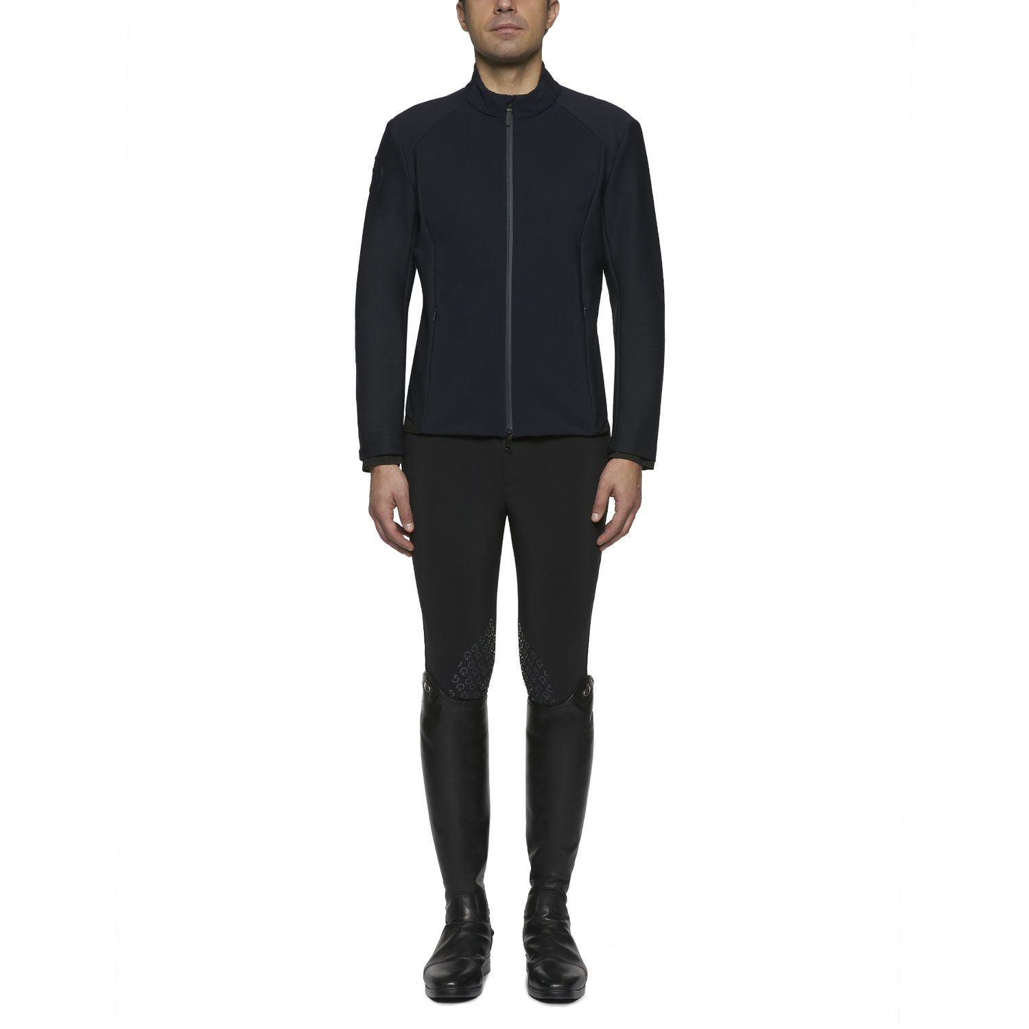 Men's lightweight jersey and piqué jacket