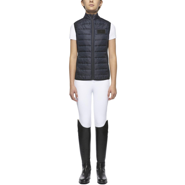Girl lightweight puffer vest w/zip
