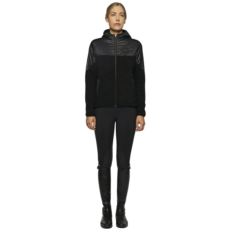 Women Sherpa Fleece Hooded Zip Jacket