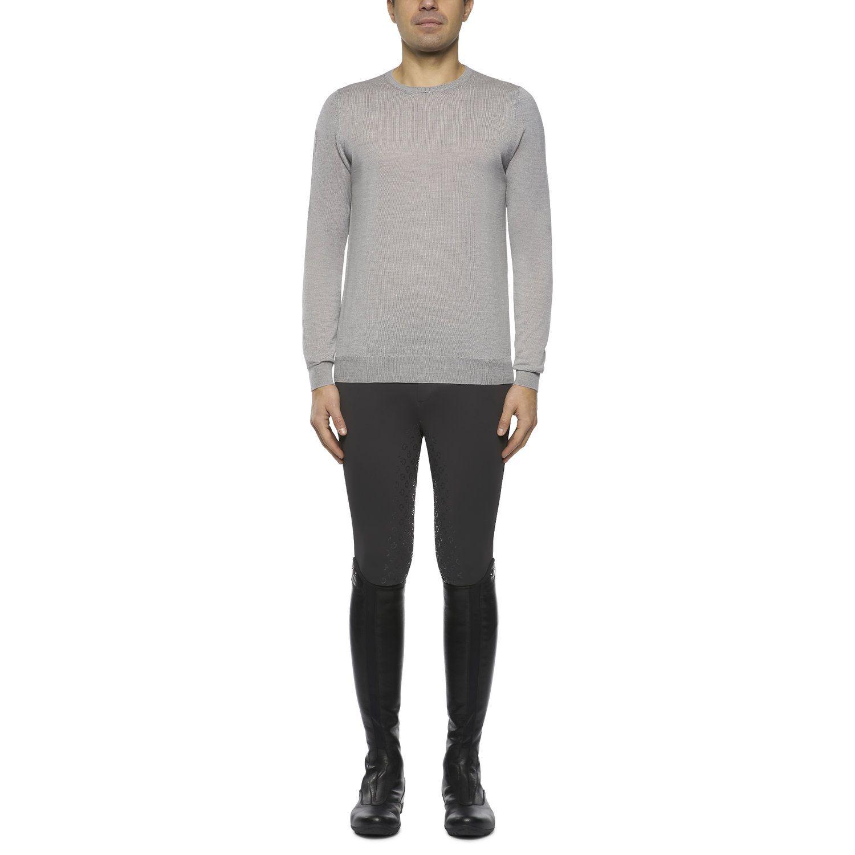 Men's sweater with jacquard logo