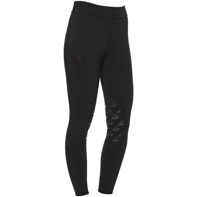 Black High Waist Breeches for Girls with Knee Grip