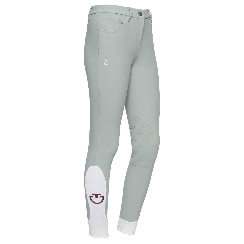 Pantaloni da bambina con grip fantasia al ginocchio