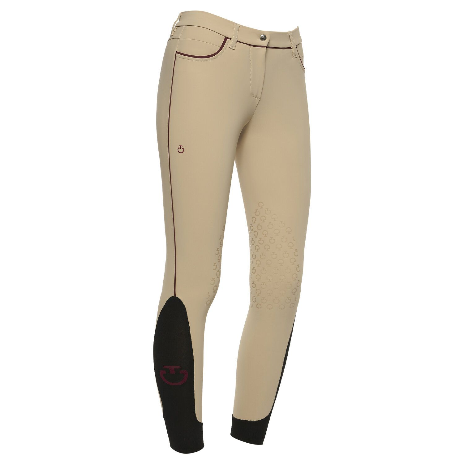 Women's contrasting piping riding breeches