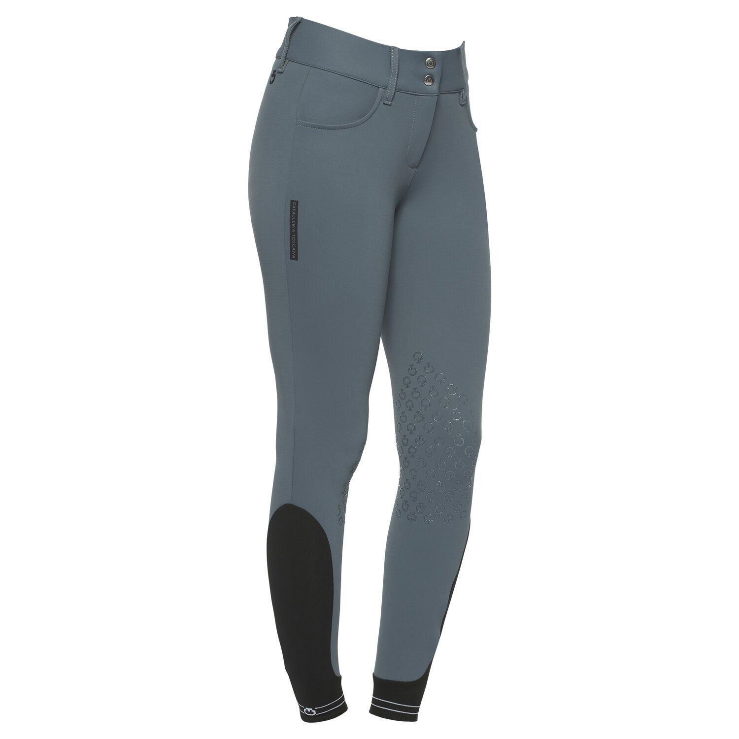 Women`s jumping breeches with perforated logo tape