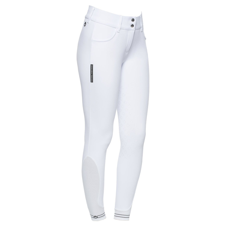 Pantaloni full grip donna con logo traforato
