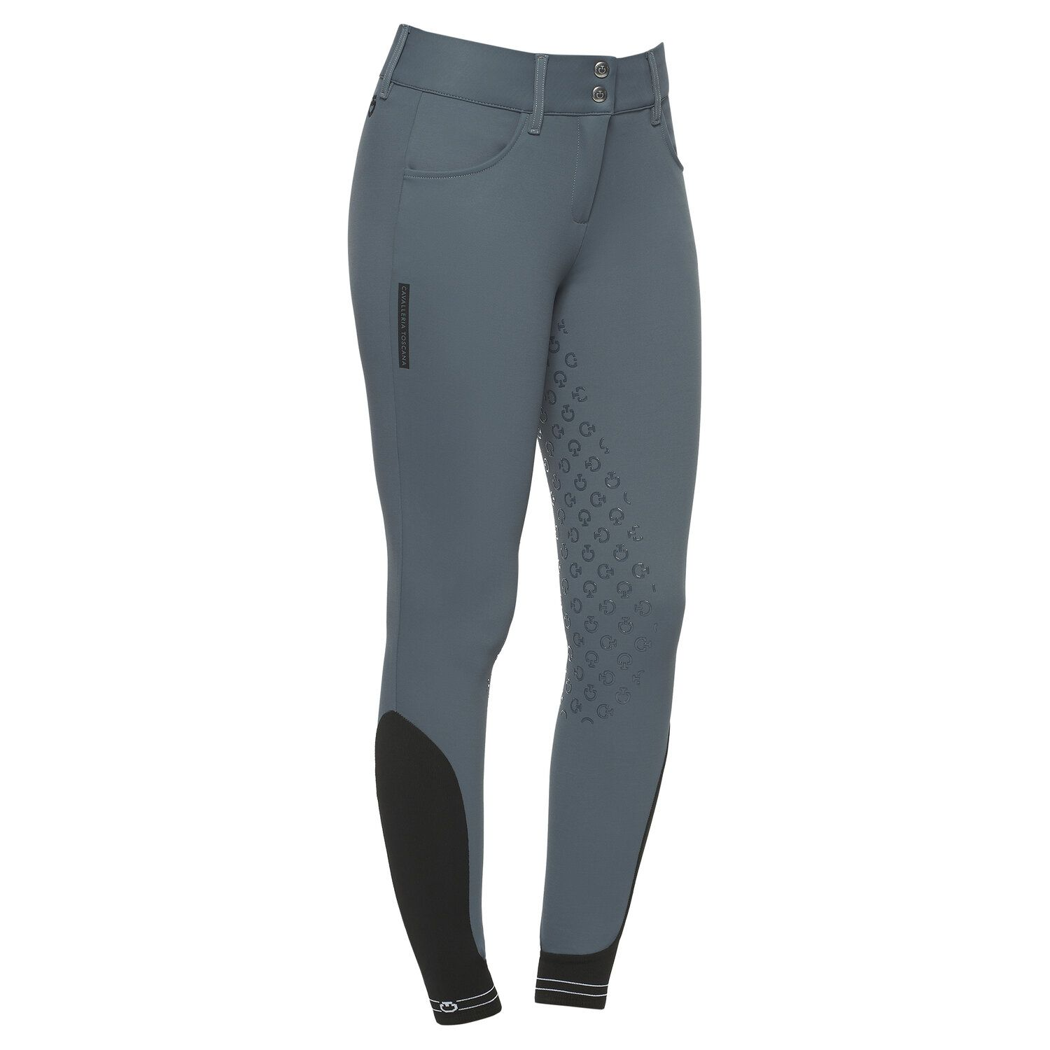 Women`s dressage breeches with perforated logo tape