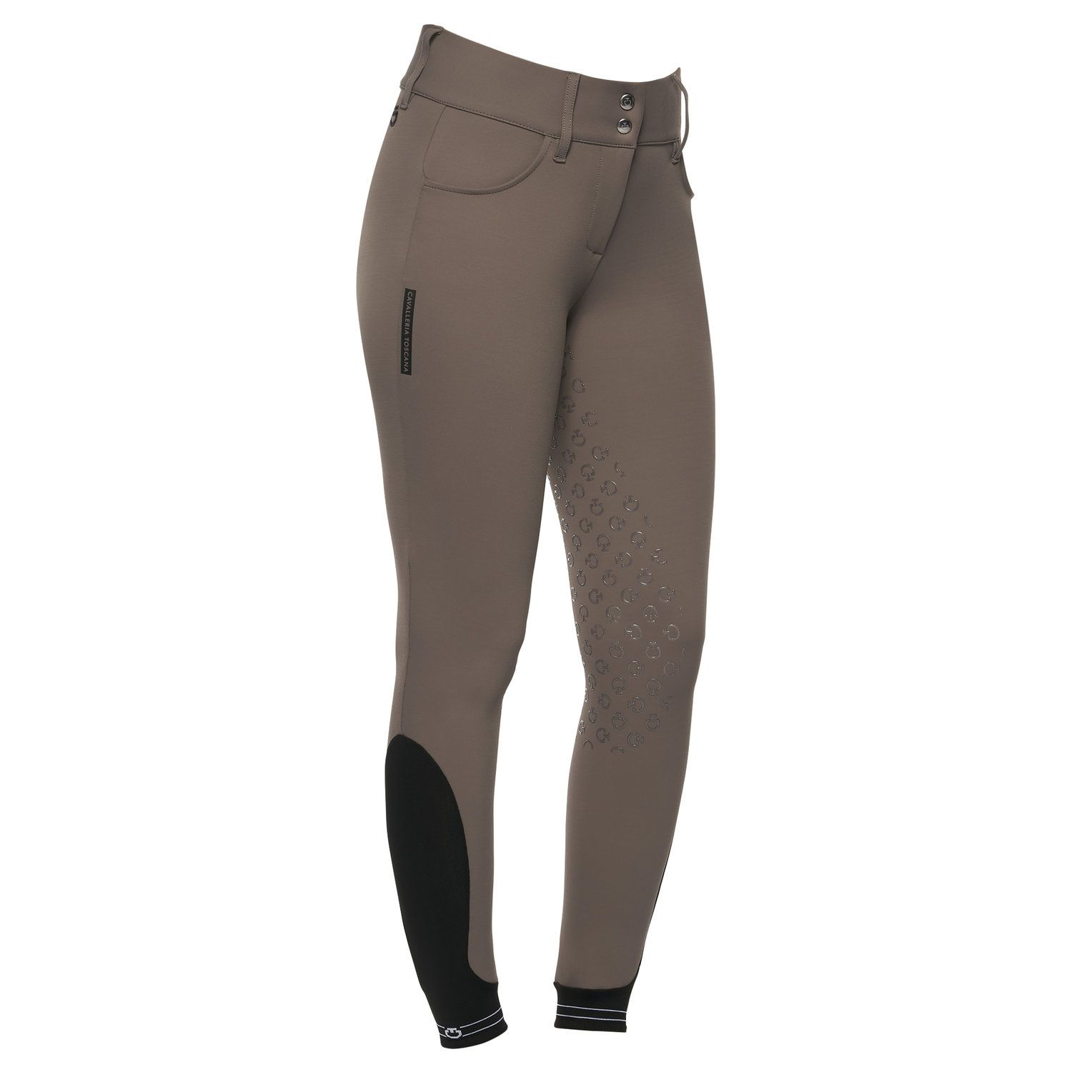 Women's dressage breeches with perforated logo tape