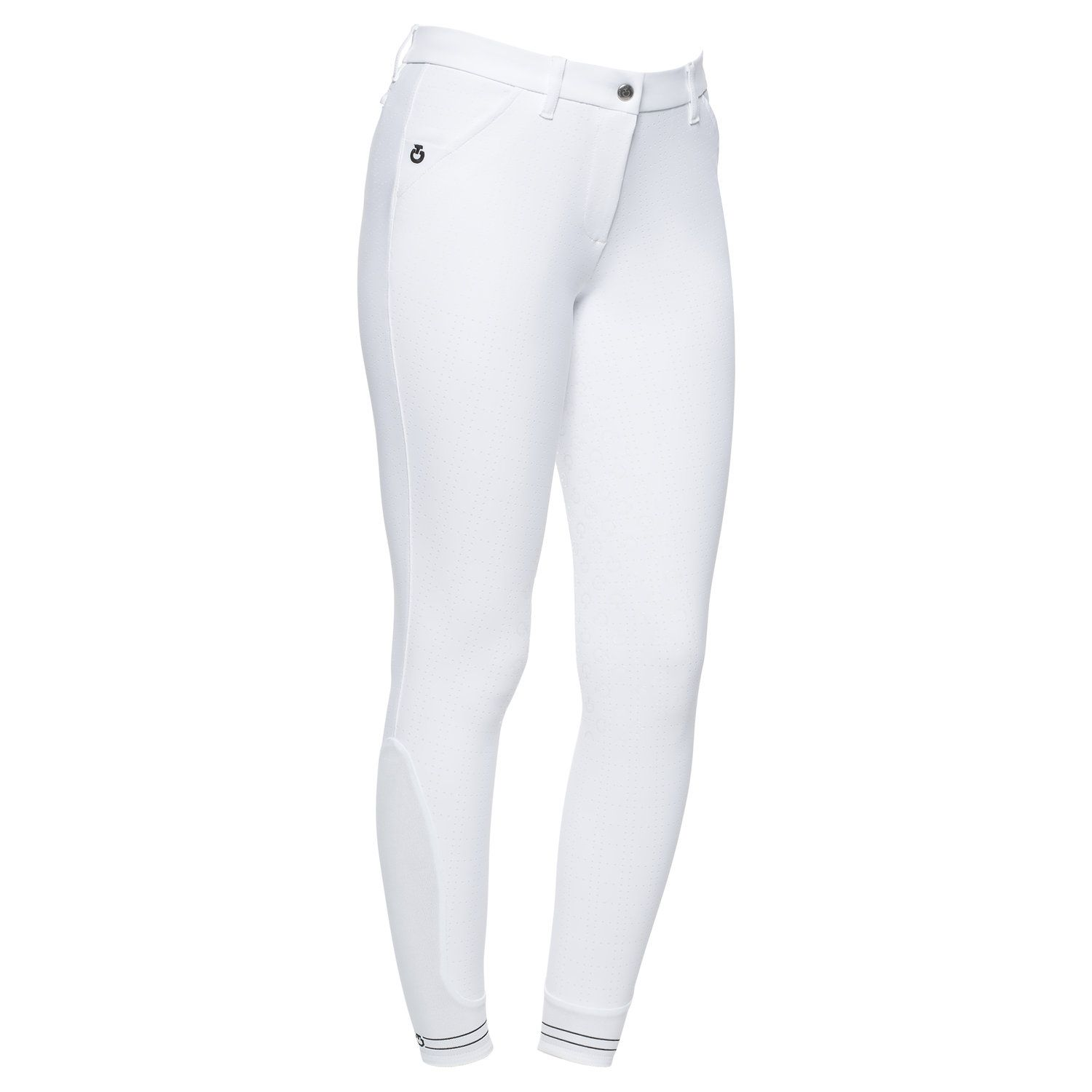 Women`s full grip breeches with squared perforated pattern