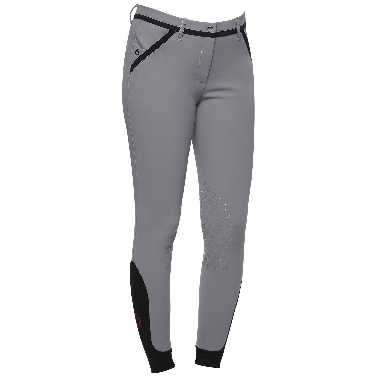 Contrasting piping riding breeches