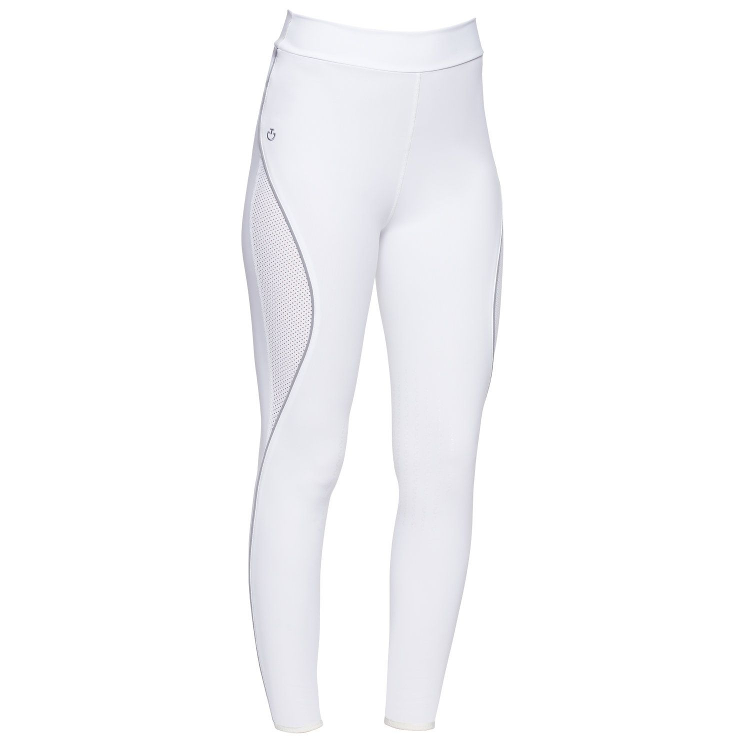 Riding leggins with perforated inserts