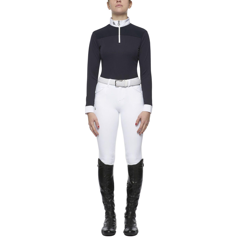 Girl's long-sleeved piqué polo