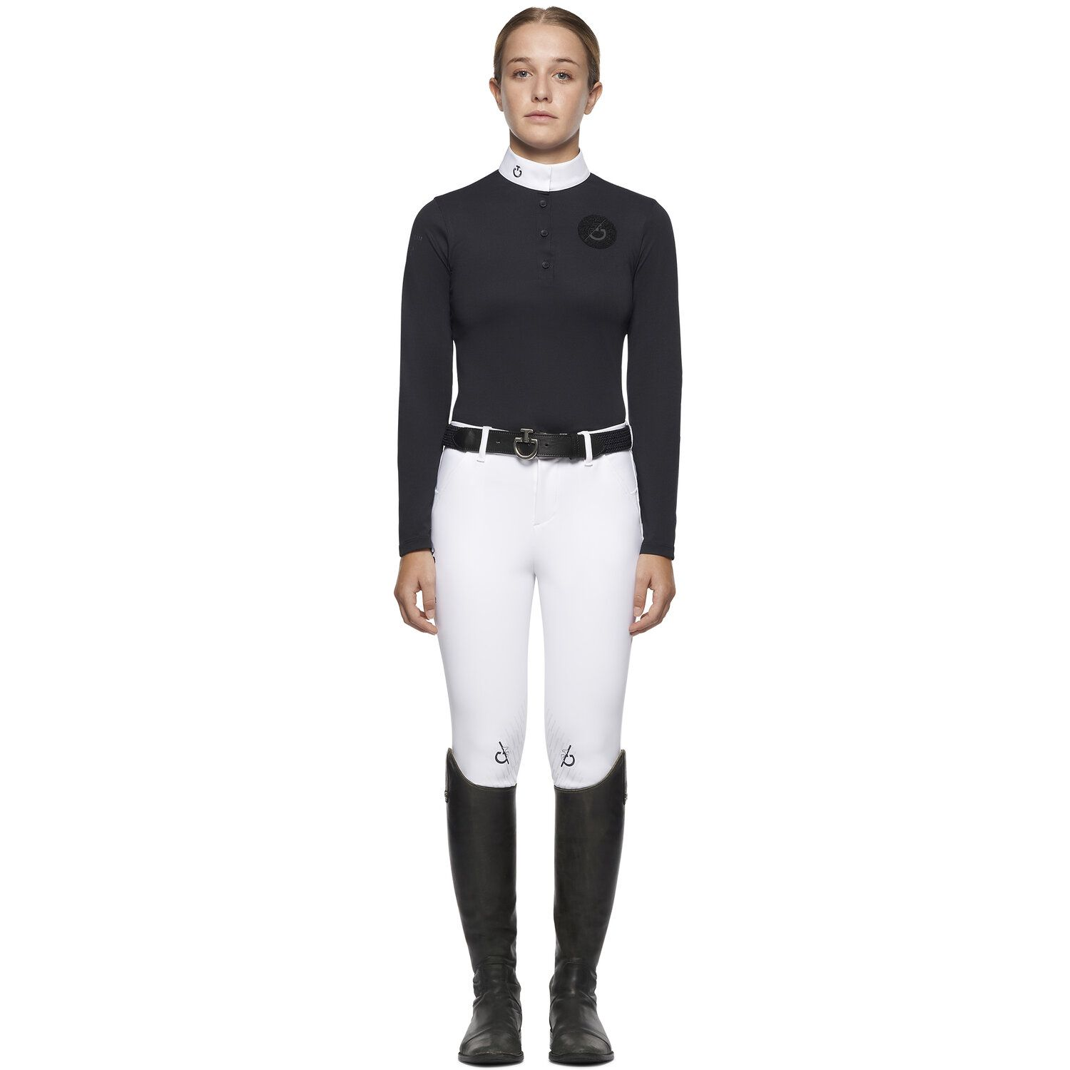TEAM girl long sleeve competition polo