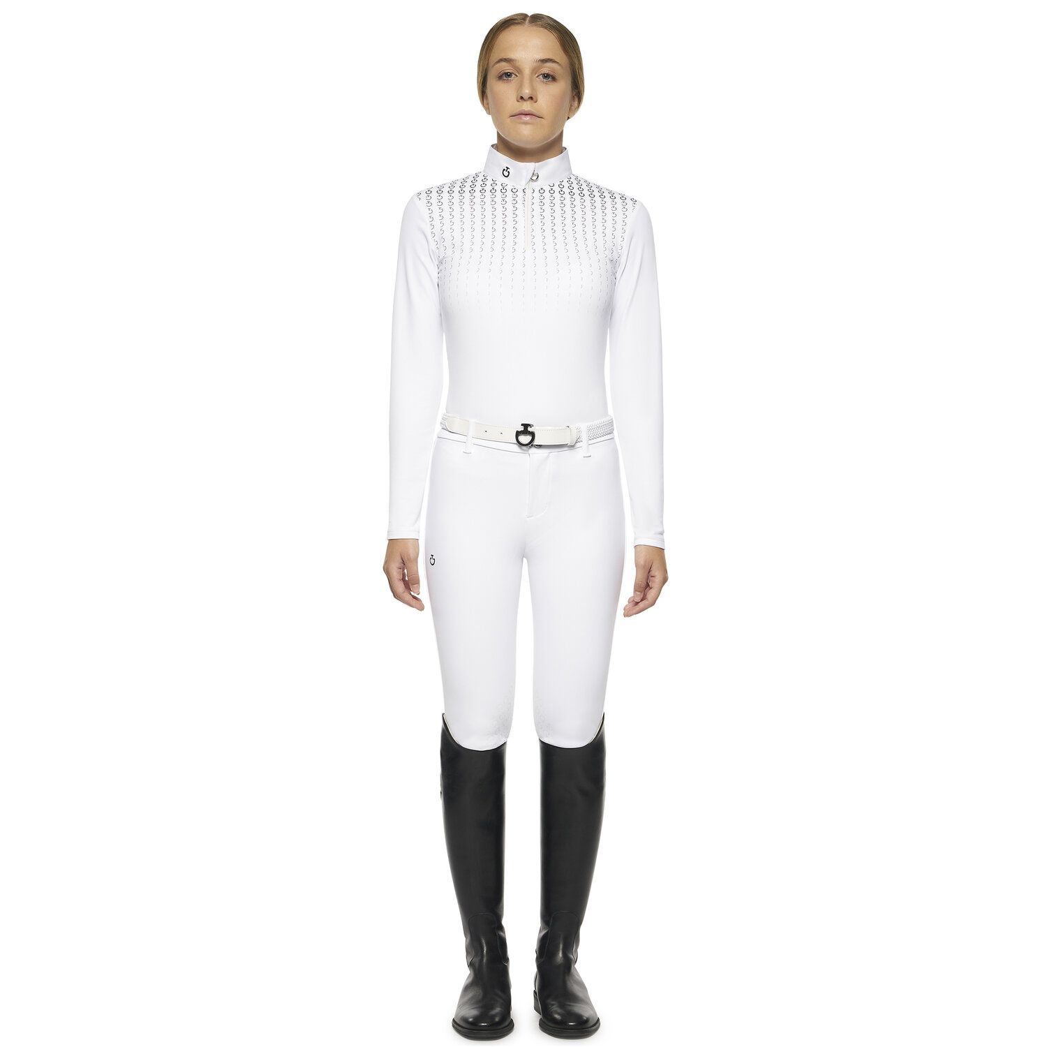 Girl's competition polo long sleeve